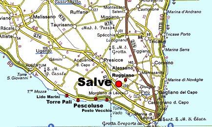 Cartina Puglia Lido Marini.Dove Siamo Come Raggiungere Salve E La Marina Di Pescoluse Torre Pali Posto Vecchio E Lido Marini Salveweb Com